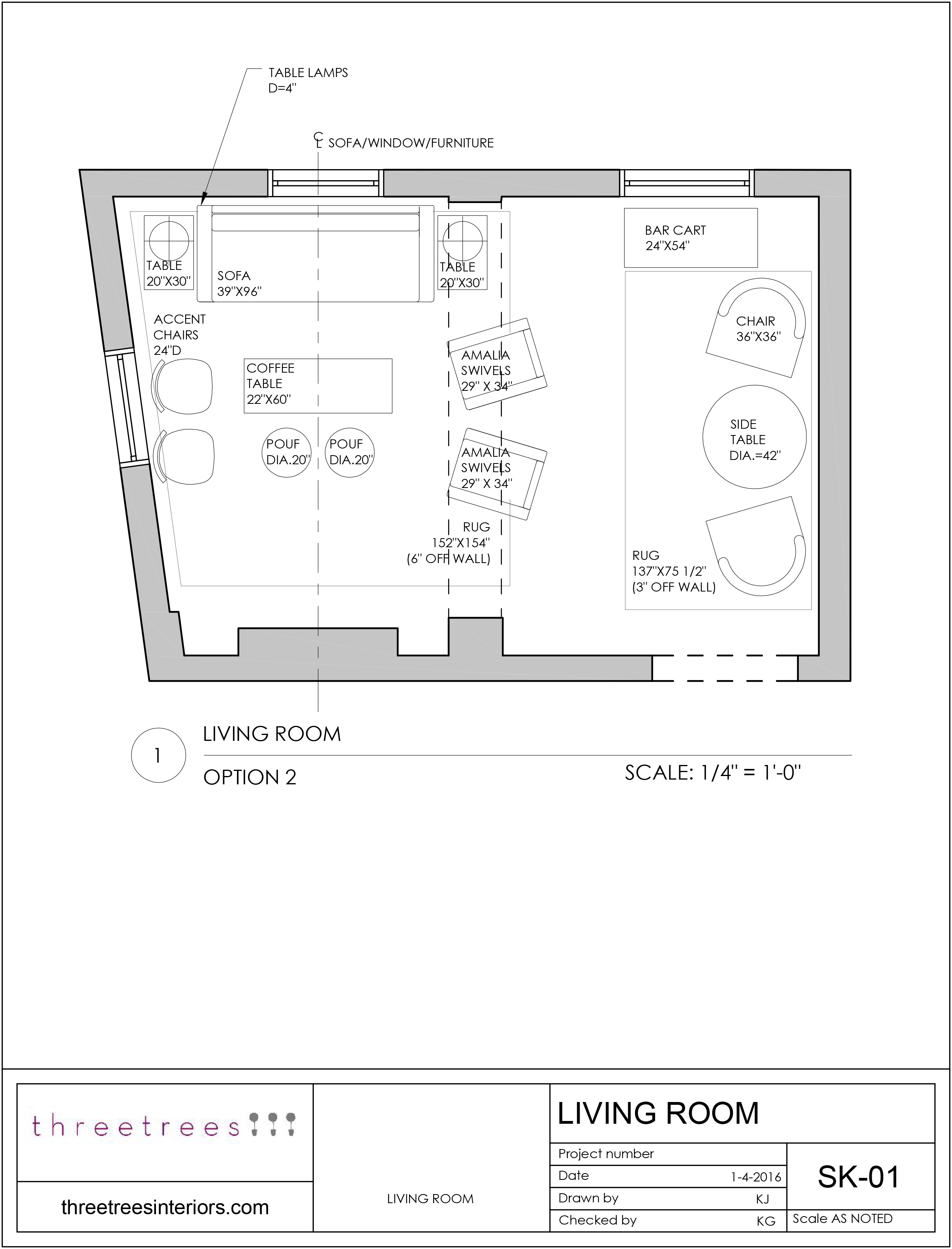 Space Planning and Schematic Design - Threetrees Interiors